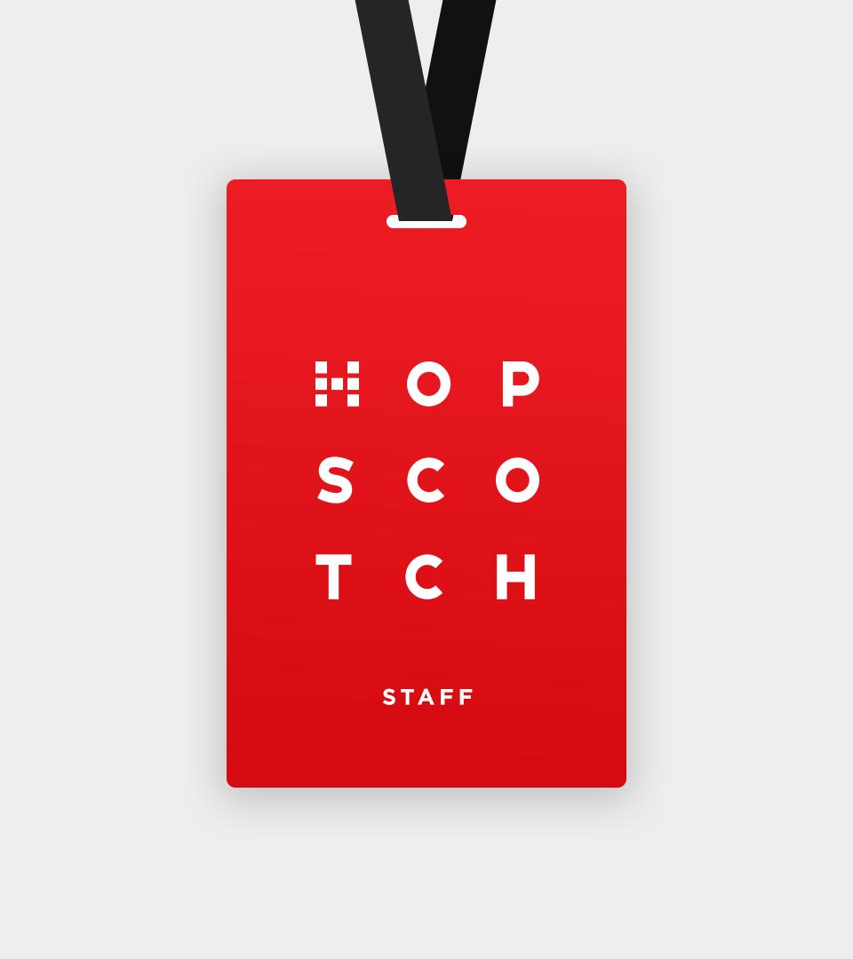 Hopscotch Badge