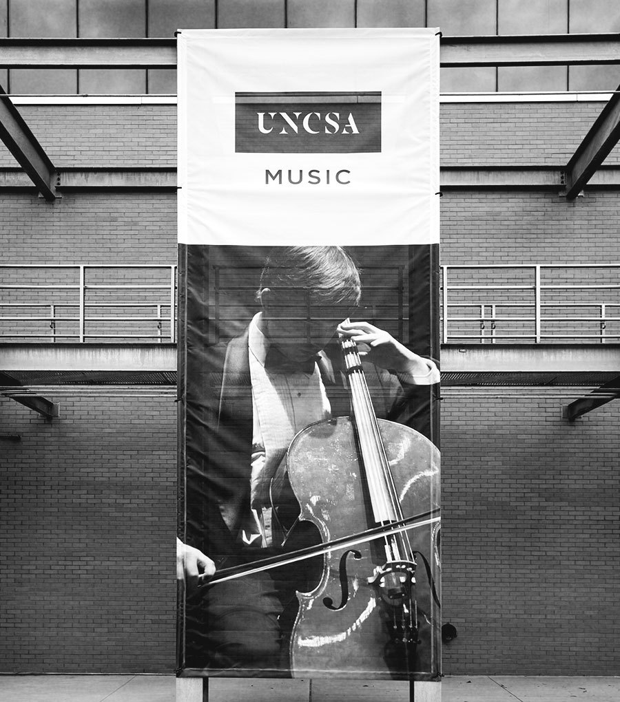 Uncsa Large Banner Half